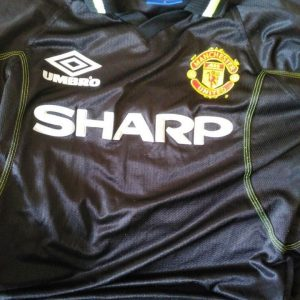 Manchester United Umbro Black Shirt 1998-1999 S/M